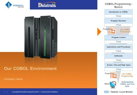 Our COBOL Environment COBOL Programming - Basics 1 hour PowerPoint Our COBOL Environment PowerPoint Our COBOL Programming Webinar Understanding COBOL and.