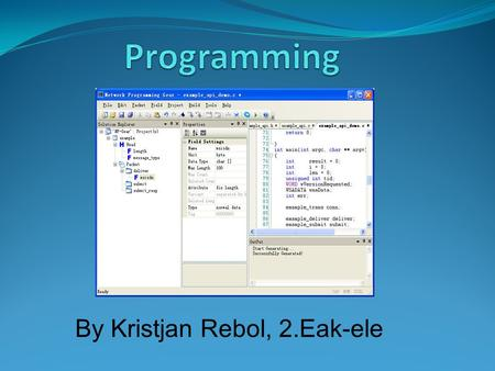 By Kristjan Rebol, 2.Eak-ele. Contents: Introduction List of the main high-level programming languages Short presentation of individual high-level languages.