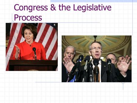 Congress & the Legislative Process. Founders' Intentions Most powerful branch of government It is Article I: 18+ expressed powers Representative assembly.