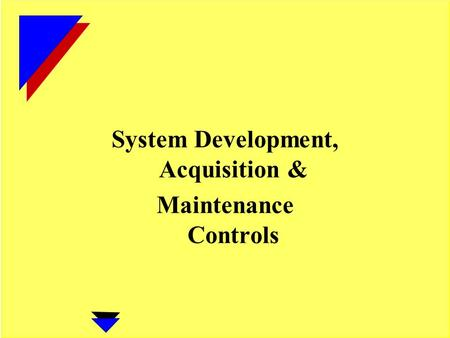System Development, Acquisition & Maintenance Controls.