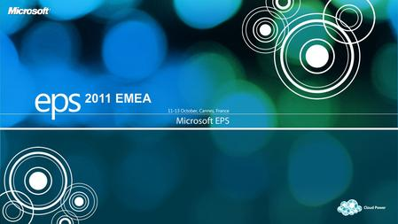 2011 EMEA. Bob Kelly Corporate Vice President, Server & Tools Business Microsoft Corporation.