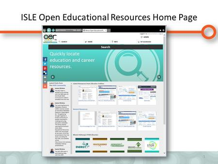 ISLE Open Educational Resources Home Page 1. 2 Browse, Search, Align Learning Standards.