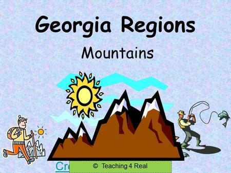 Georgia Regions Mountains Created by Teaching 4 Real © Teaching 4 Real.