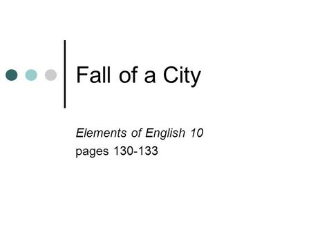 Elements of English 10 pages