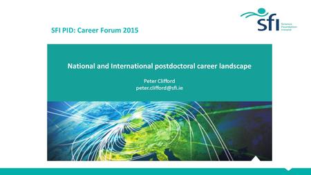 National and International postdoctoral career landscape Peter Clifford SFI PID: Career Forum 2015.