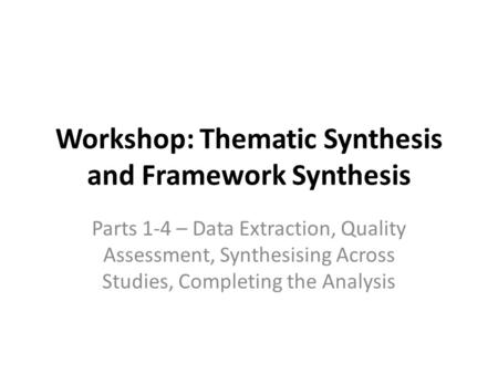 synthesising data Synthesising qualitative and quantitative data pdf created with pdffactory pro trial version wwwpdffactorycom.