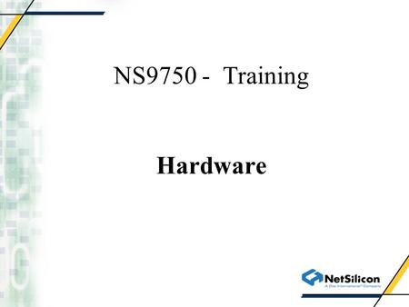 NS9750 - Training Hardware. Print Engine Controller NS9775.