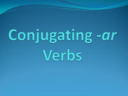 Verbs are action words (talk, walk, run, write, listen, etc.). In any language, you want the verbs to agree with their subjects. This is called subject-