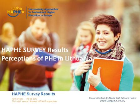 Haphe.eurashe.eu 1 Presenter NameEvent Name HAPHE Survey Results First results – 03-08-2013 EU Level versus Lithuania HEI All Perspectives Prepared by.