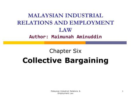 Chapter Six Collective Bargaining