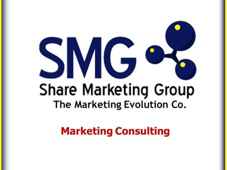 The Marketing Evolution Co. Marketing Consulting.