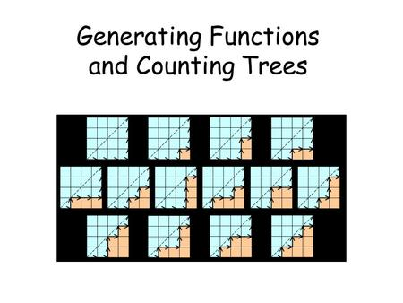 Generating Functions and Counting Trees. Today's Plan 1.Generating functions for basic sequences 2.Operations on generating functions 3.Counting 4.Solve.