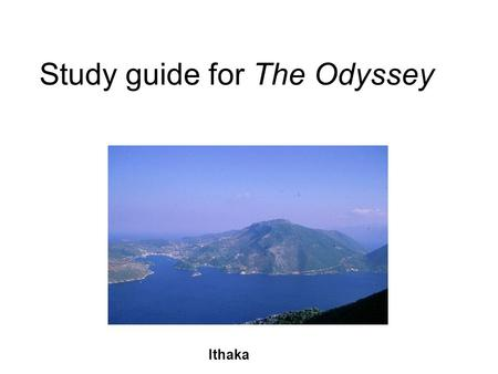 Study guide for The Odyssey