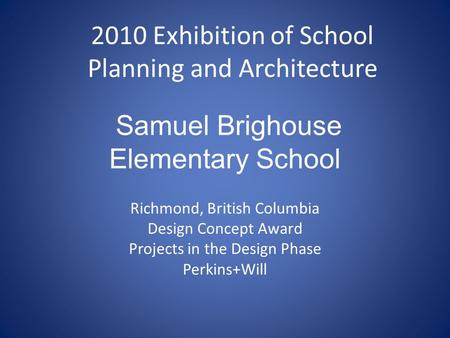 Samuel Brighouse Elementary School