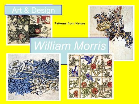 William Morris Art & Design Patterns from Nature.