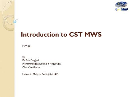 Introduction to CST MWS