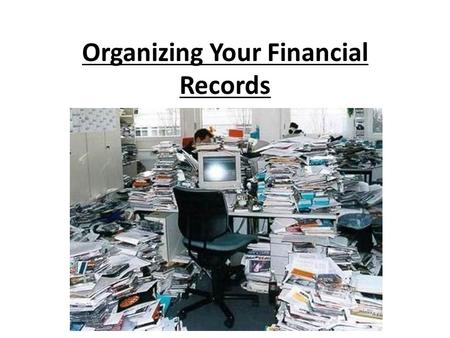 Organizing Your Financial Records. Filing Systems for Paper Documents Alphabetical Order: File your bills and documents alphabetically in folders labeled.
