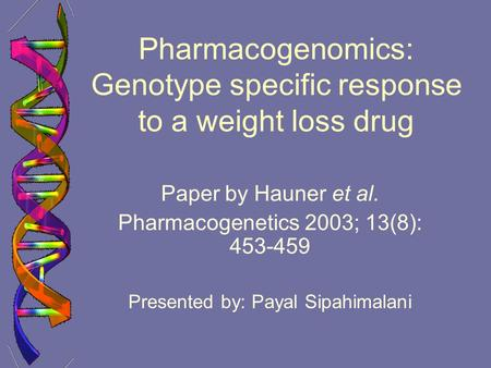 essay on pharmacogenetics Essay| volume 141, issue 2, p210-217, april 16, 2010  pharmacogenomics  holds immediate promise for personalized medicine, for example by genotyping.