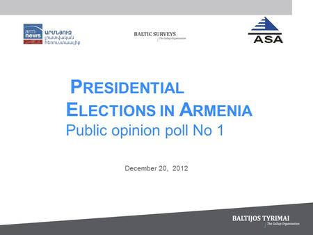 December 20, 2012. 2 INFORMATION ABOUT THE SURVEY 2.