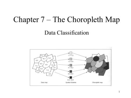 1 Chapter 7 – The Choropleth Map Data Classification.
