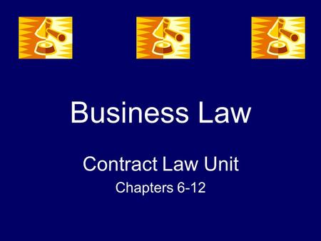 Business Law Contract Law Unit Chapters 6-12. Chapter 6 Offer & Acceptance.