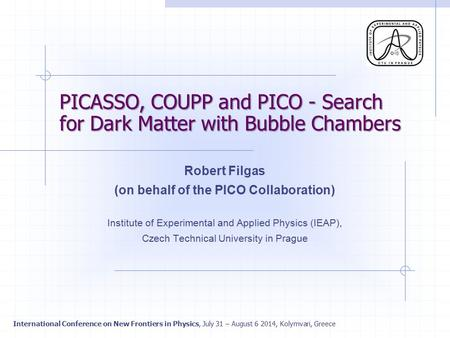 PICASSO, COUPP and PICO - Search for Dark Matter with Bubble Chambers