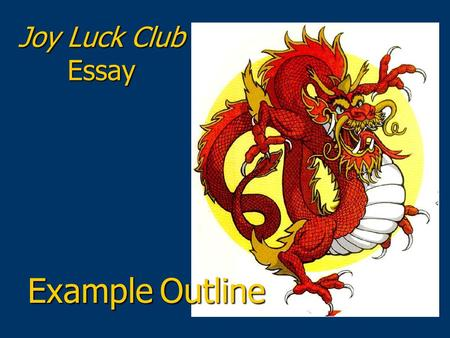 the joy luck club essay topics