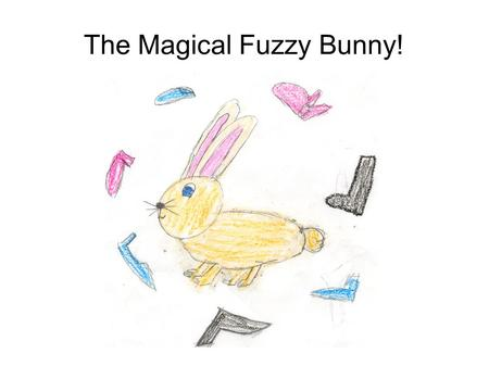 The Magical Fuzzy Bunny!. Once upon a time there was a rabbit named Fuzzy Bunny. He was a bunny who was always putting on others shoes.