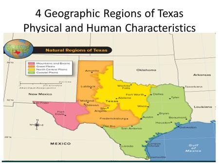 4 Geographic Regions of Texas Physical and Human Characteristics