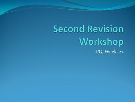 research paper revision workshop During the workshop  writer's workshop: research papers correlates with many of the national standards for language it's time to begin the revision process.