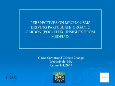 Ocean Carbon and Climate Change
