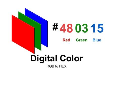 RGB to HEX Digital Color 480315 RedGreenBlue #. Color Pixels Each pixel composed red, green and blue phosphers with black mask. Each channel of the RGB.
