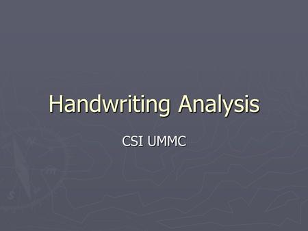 Csi handwriting analysis interactive web