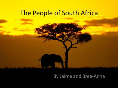 The People of South Africa