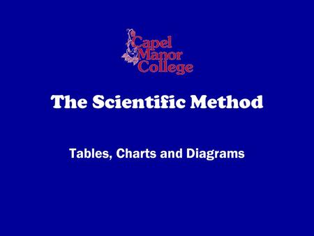 The Scientific Method Tables, Charts and Diagrams.