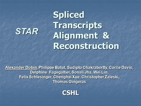 Spliced Transcripts Alignment & Reconstruction