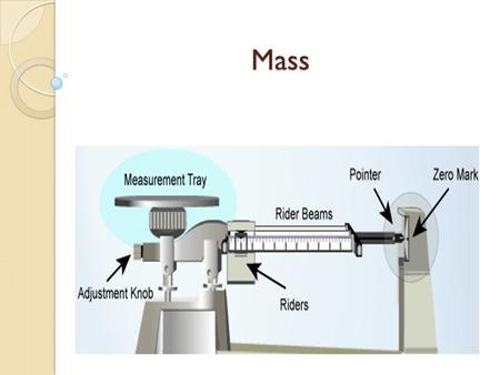 Mass. Triple Beam Balance Mass: is a measure of the amount of matter in an object.