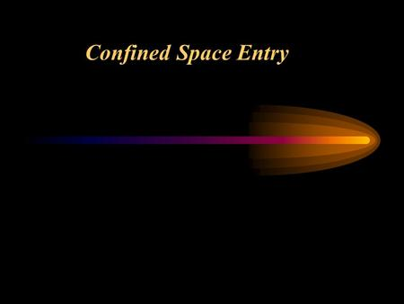 Confined Space Entry. OBJECTIVES: Upon completion of this topic you will be able to: Describe what a confined space is. Identify confined space hazards.