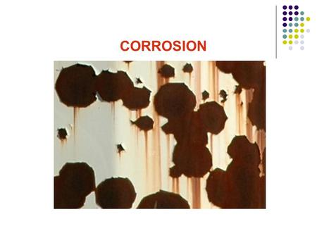 CORROSION.  Introduction  Forms of Corrosion o Uniform Corrosion o Pitting Corrosion o Stress Corrosion Cracking o Crevice Corrosion o Erosion Corrosion.