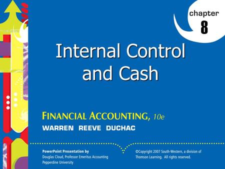 Click to edit Master title style 1 1 8 Internal Control and Cash.