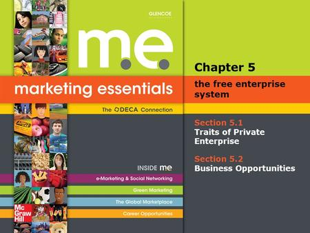 Section 5.1 Traits of Private Enterprise Chapter 5 the free enterprise system Section 5.2 Business Opportunities.