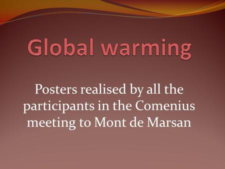 Posters realised by all the participants in the Comenius meeting to Mont de Marsan.