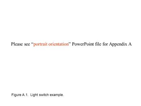 "Please see ""portrait orientation"" PowerPoint file for Appendix A Figure A.1. Light switch example."