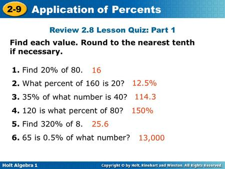 Review 2.8 Lesson Quiz: Part 1