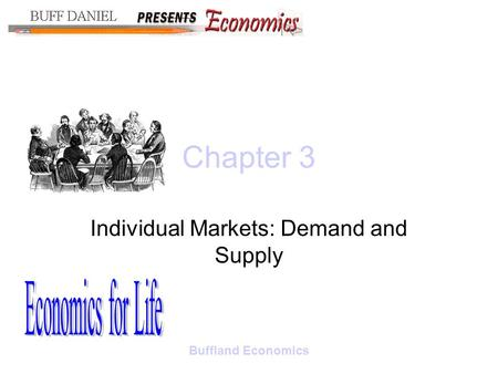 Buffland Economics Chapter 3 Individual Markets: Demand and Supply.
