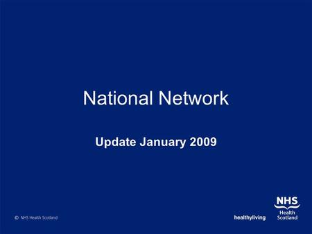 National Network Update January 2009. Update………………………. Substance Misuse - Review of Resources Substance Misuse – Developing a holistic picture Choices.