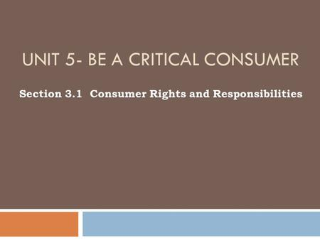 consumer rights and responsibilities pdf