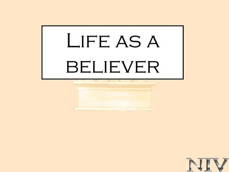 Life as a believer. 1 CORINTHIAN 6:1-20 SUBJECT CHRISTIAN WITNESS.
