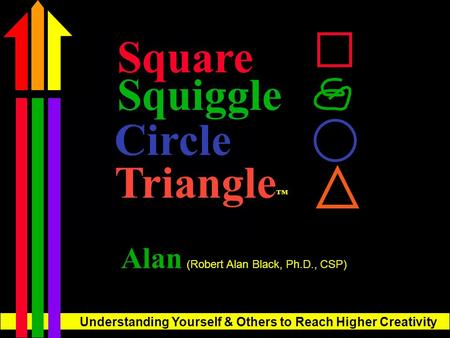 Understanding Yourself & Others to Reach Higher Creativity Square Alan (Robert Alan Black, Ph.D., CSP) Triangle ™ Circle Squiggle.