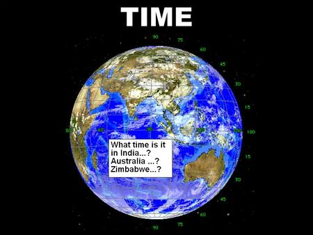 Time TIME. The Earth Rotates on Its Axis One Turn Every 24 Hours.